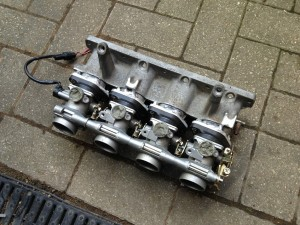 MX5 inlet manifold with GSXR 600 throttles
