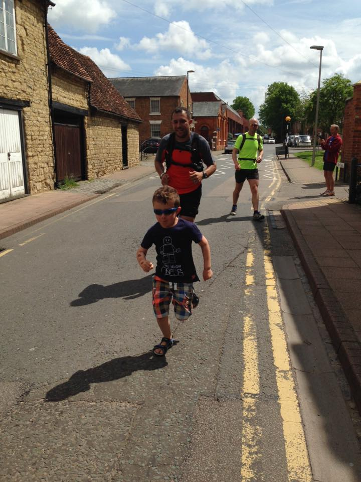 Joined (and beaten) by my son for the last few metres